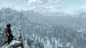 "Nothing says ""Sandbox"" and ""Massive"" like the views of Skyrim. Shall we go for a walk?"